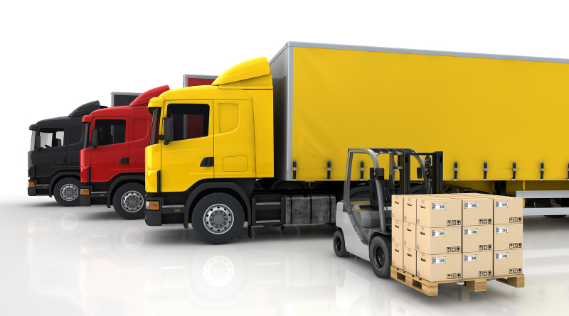 bigstock-Transportation-trucks-in-freig-44819200